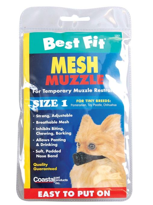 Best Fit Dog Muzzle Adjule And